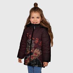 Куртка зимняя для девочки SCARLXRD: Dark Man цвета 3D-черный — фото 2