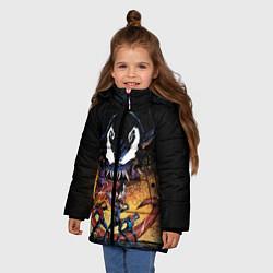 Куртка зимняя для девочки Venom city цвета 3D-черный — фото 2