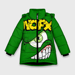 Куртка зимняя для девочки NOFX Face цвета 3D-черный — фото 1