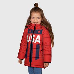 Куртка зимняя для девочки USA цвета 3D-черный — фото 2
