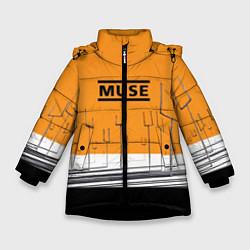 Куртка зимняя для девочки Muse: Orange Mood цвета 3D-черный — фото 1