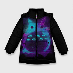 Куртка зимняя для девочки Милый Тоторо цвета 3D-черный — фото 1