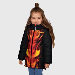 Куртка зимняя для девочки Rammstein Fire цвета 3D-черный — фото 2