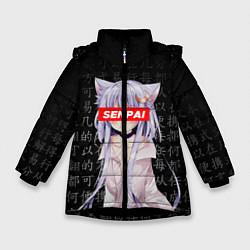 Куртка зимняя для девочки SENPAI ANIME цвета 3D-черный — фото 1