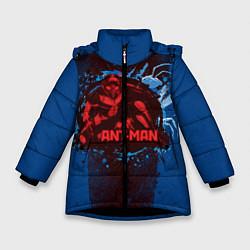 Куртка зимняя для девочки Ant-man цвета 3D-черный — фото 1