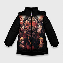 Куртка зимняя для девочки Overlord 1 цвета 3D-черный — фото 1