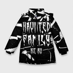 Куртка зимняя для девочки KIZARU - HAUNTED FAMILY цвета 3D-черный — фото 1