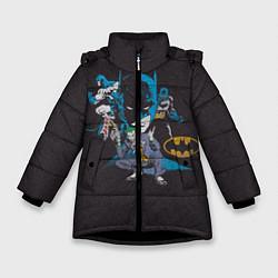 Куртка зимняя для девочки Batman classic цвета 3D-черный — фото 1