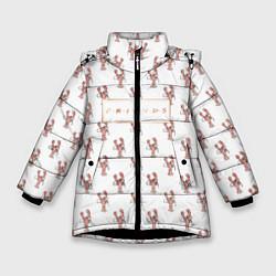Куртка зимняя для девочки Lobster цвета 3D-черный — фото 1