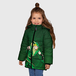 Куртка зимняя для девочки Green Arrow цвета 3D-черный — фото 2