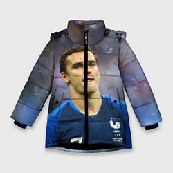 Куртка зимняя для девочки Антуан Гризманн цвета 3D-черный — фото 1