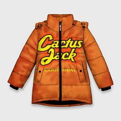 Куртка зимняя для девочки Cactus Jack цвета 3D-черный — фото 1