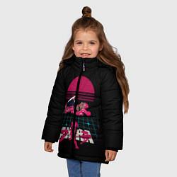 Куртка зимняя для девочки Akirа цвета 3D-черный — фото 2