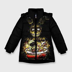 Куртка зимняя для девочки Five Nights At Freddy's цвета 3D-черный — фото 1