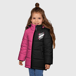 Куртка зимняя для девочки Birds of Prey хх цвета 3D-черный — фото 2