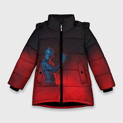 Куртка зимняя для девочки Скриптонит цвета 3D-черный — фото 1