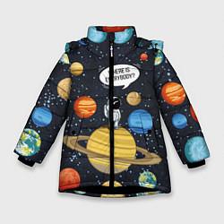 Куртка зимняя для девочки Where is Everybody? цвета 3D-черный — фото 1