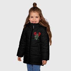 Куртка зимняя для девочки Payton Moormeie цвета 3D-черный — фото 2