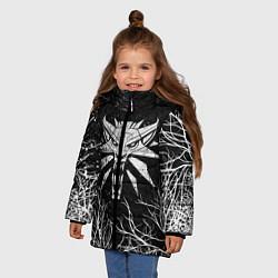 Куртка зимняя для девочки ВЕДЬМАК цвета 3D-черный — фото 2
