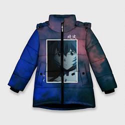 Детская зимняя куртка для девочки с принтом Первое дитя, цвет: 3D-черный, артикул: 10203908706065 — фото 1
