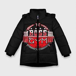 Куртка зимняя для девочки Boss of GYM акварель цвета 3D-черный — фото 1