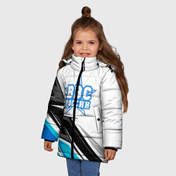 Куртка зимняя для девочки ВВС России цвета 3D-черный — фото 2