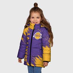 Куртка зимняя для девочки LA LAKERS цвета 3D-черный — фото 2