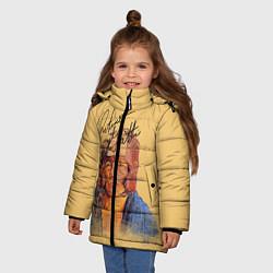 Куртка зимняя для девочки Arturo Gatti цвета 3D-черный — фото 2