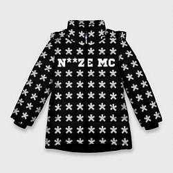 Куртка зимняя для девочки Noize MC цвета 3D-черный — фото 1