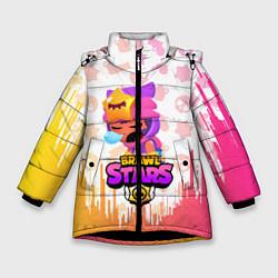 Куртка зимняя для девочки BRAWL STARS SANDY цвета 3D-черный — фото 1