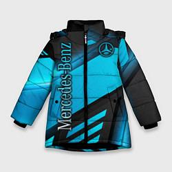 Куртка зимняя для девочки Mercedes-Benz цвета 3D-черный — фото 1