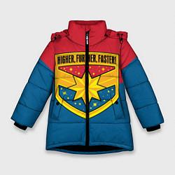 Куртка зимняя для девочки Higher, Further, Faster - фото 1
