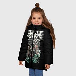 Куртка зимняя для девочки Suicide silence цвета 3D-черный — фото 2