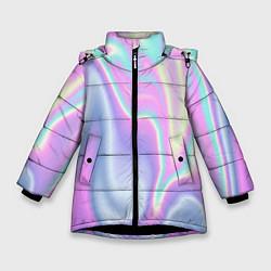 Куртка зимняя для девочки Vaporwave цвета 3D-черный — фото 1
