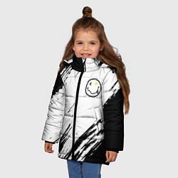 Куртка зимняя для девочки NIRVANA цвета 3D-черный — фото 2