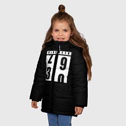 Куртка зимняя для девочки OLDOMETR 30 лет цвета 3D-черный — фото 2