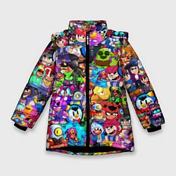 Зимняя куртка для девочки BRAWL STATS ВСЕ ПЕРСОНАЖИ