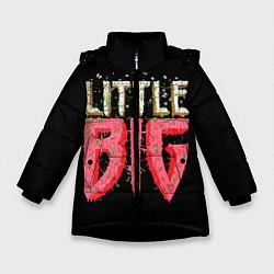 Куртка зимняя для девочки Little Big цвета 3D-черный — фото 1