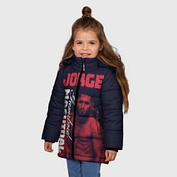 Куртка зимняя для девочки Jorge Masvidal цвета 3D-черный — фото 2