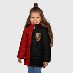 Куртка зимняя для девочки PORSCHE цвета 3D-черный — фото 2