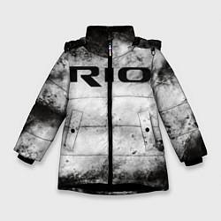 Куртка зимняя для девочки KIA RIO цвета 3D-черный — фото 1