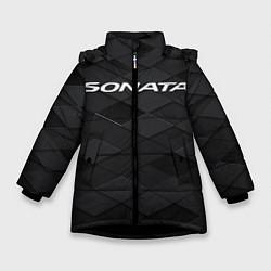 Куртка зимняя для девочки HYUNDAI SONATA цвета 3D-черный — фото 1
