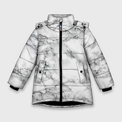 Куртка зимняя для девочки Мрамор цвета 3D-черный — фото 1
