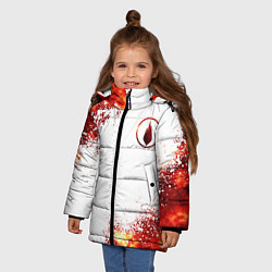 Куртка зимняя для девочки Thousand Foot Krutch цвета 3D-черный — фото 2