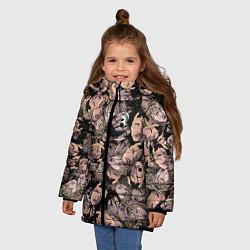 Детская зимняя куртка для девочки с принтом Juice WRLD, цвет: 3D-черный, артикул: 10212957306065 — фото 2