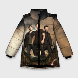 Куртка зимняя для девочки Supernatural цвета 3D-черный — фото 1