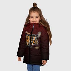 Куртка зимняя для девочки Welcome To Hell цвета 3D-черный — фото 2