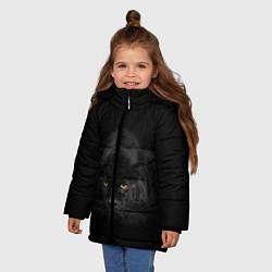 Куртка зимняя для девочки Пантера цвета 3D-черный — фото 2