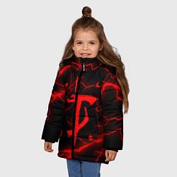 Куртка зимняя для девочки DOOM ETERNAL цвета 3D-черный — фото 2