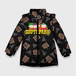 Куртка зимняя для девочки SOUTH PARK цвета 3D-черный — фото 1